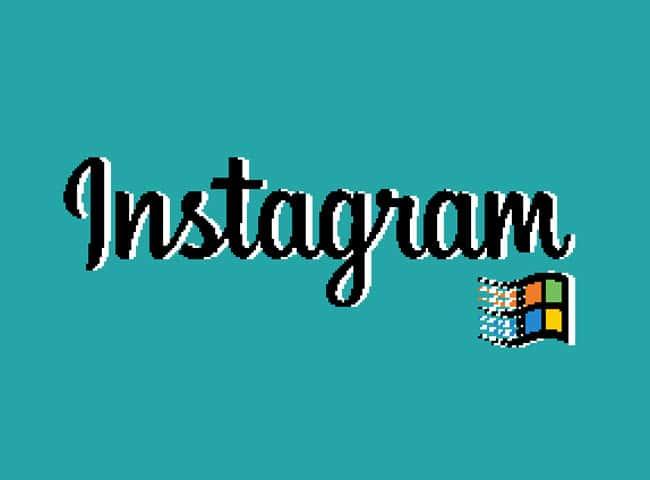 Instagram en Windows 95