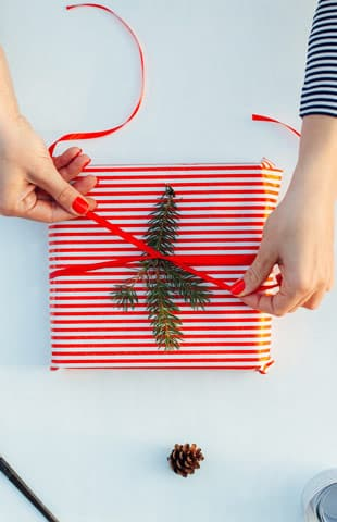 envolturas regalos de Navidad