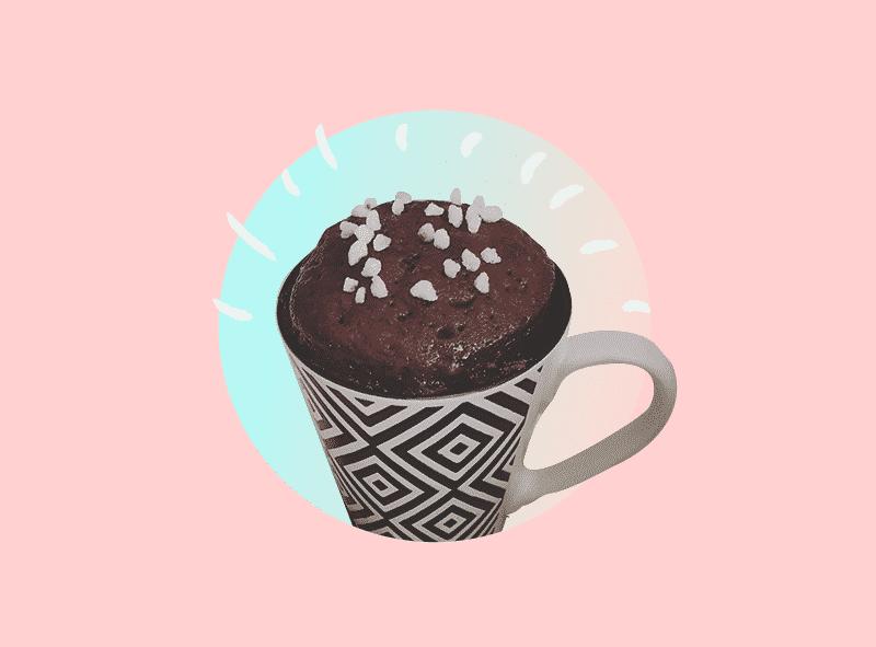 cómo hacer un mug cake de chocolate