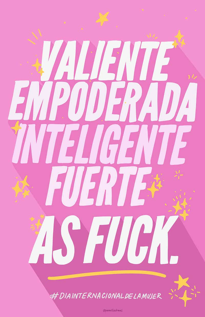 pósters para la Marcha por el Día Internacional de la Mujer