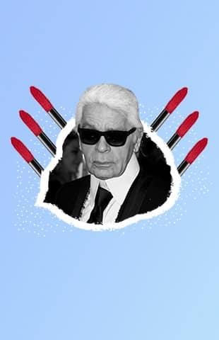 Karl Lagerfeld maquillaje