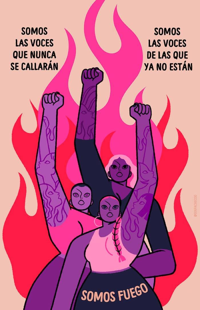 cartel marcha día de la mujer